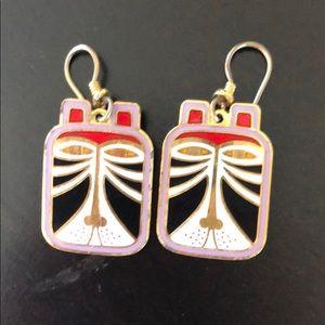Laurel Burch vintage earrings
